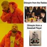 Shirayim from the Rebbe versus a Baseball Player