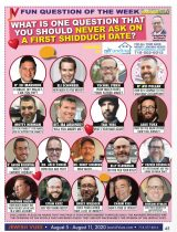What is One Question You Should Never Ask on a Shidduch Date?